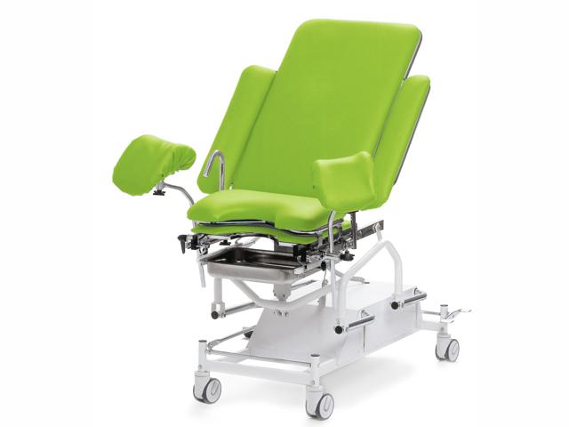 Gynaecology chair electric, standard leg holders